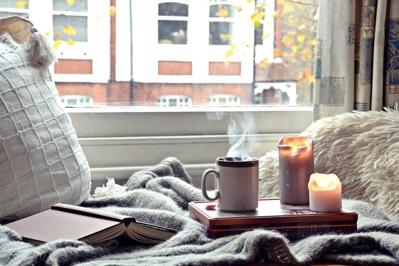 Cozy home. Candles